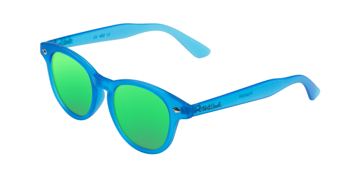Lentes de sol polarizados Circle Smoky Blue - Green Polarized