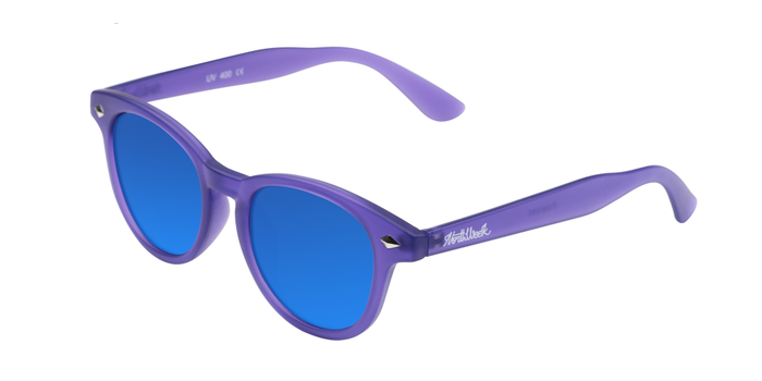 Lentes de sol polarizados Circle Smoky Purple - Blue Polarized