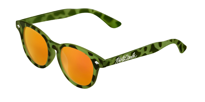 Lentes de sol polarizados Circle Tortoise Green - Orange Polarized