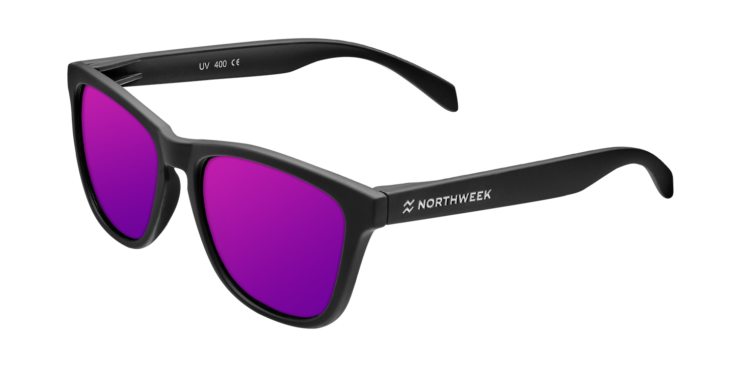 Matte Black - Purple Polarized