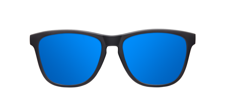MATTE BLACK - BLUE POLARIZED