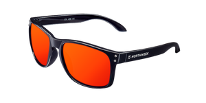 BOLD SHINE BLACK - RED POLARIZED