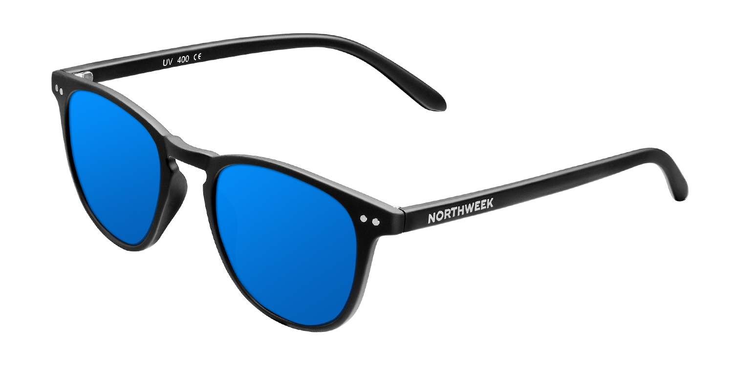 WALL MATTE BLACK - BLUE POLARIZED
