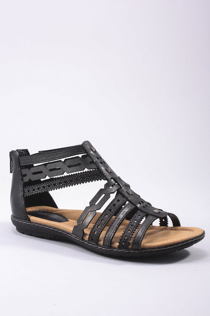 Bay Sandal in Black-Multi