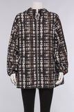 Raffauf Print Hooded Jacket in Brown/Multi