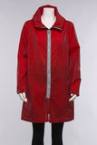Recycled Hooded Coat in Red