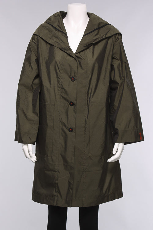 Cape Coat in Olive