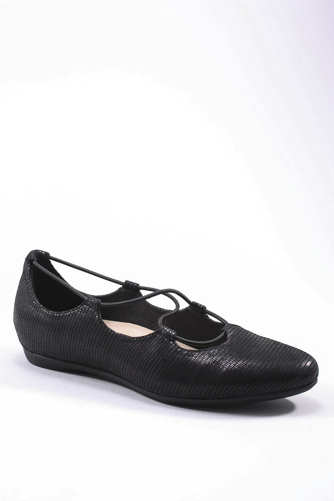 Essen-Printed Suede Shoe in Black