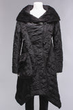 Hooded Quilted Coat in Black