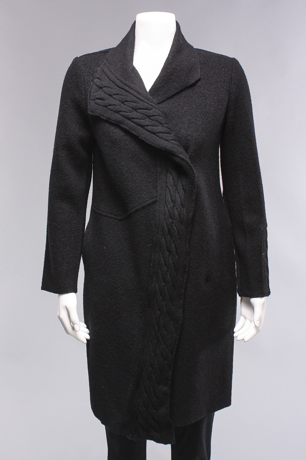 Wrap Up Coat in Black
