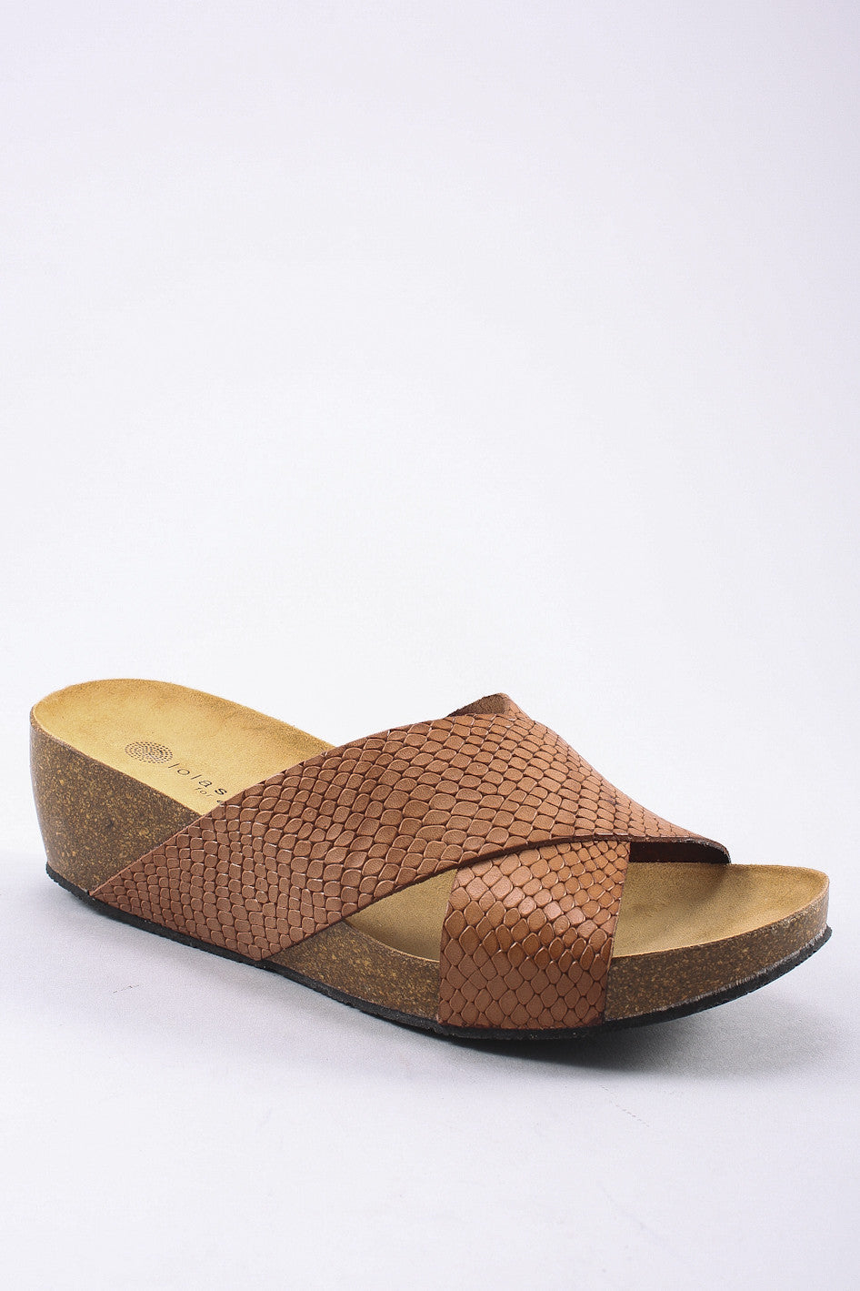 Violet Sandal in Brown