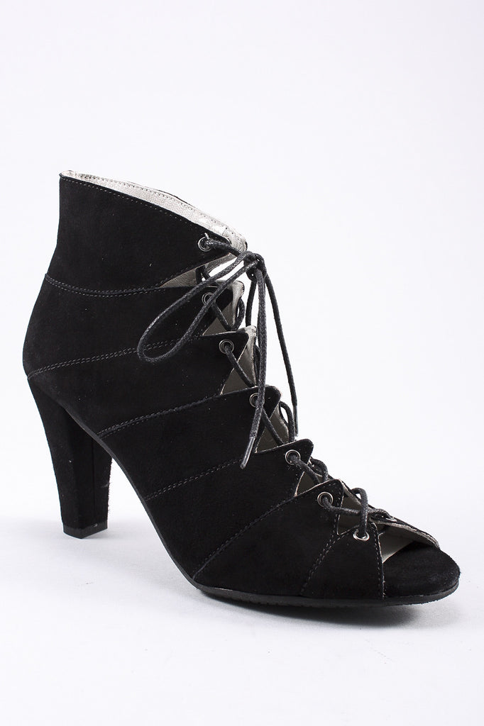 Blanca Open Toe Heel in Black