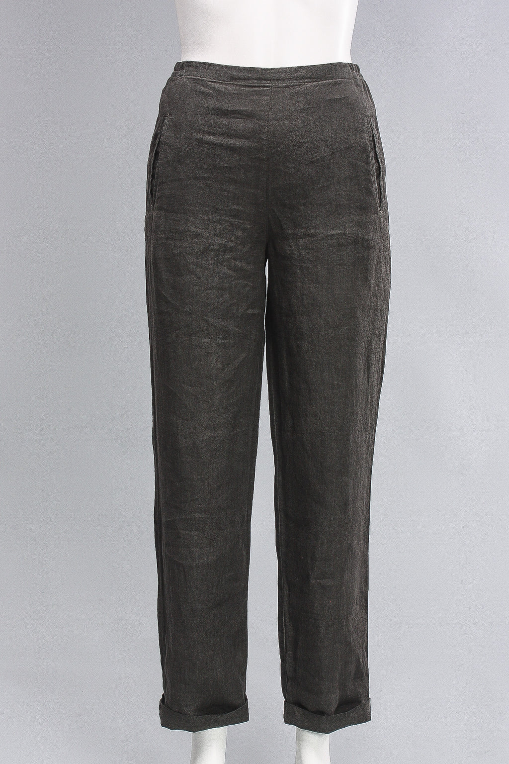 Pants China Long Slim in Forest