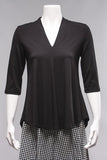 V-Neck Top in Black*