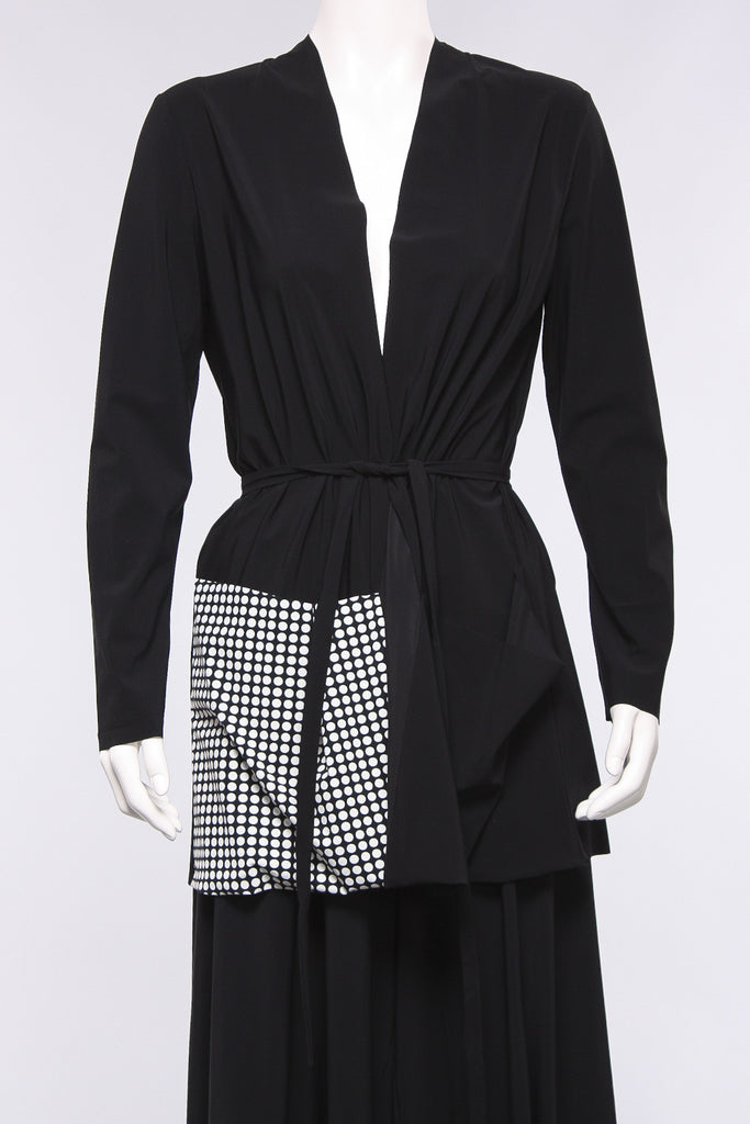 Two Pocket Jacket in Black/Dots