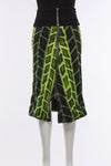 Reverse Dress in Green Print