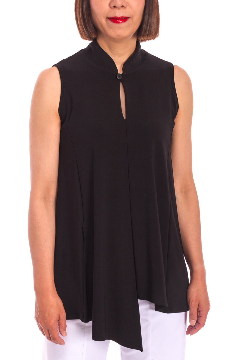 Sleeveless Double Over Top