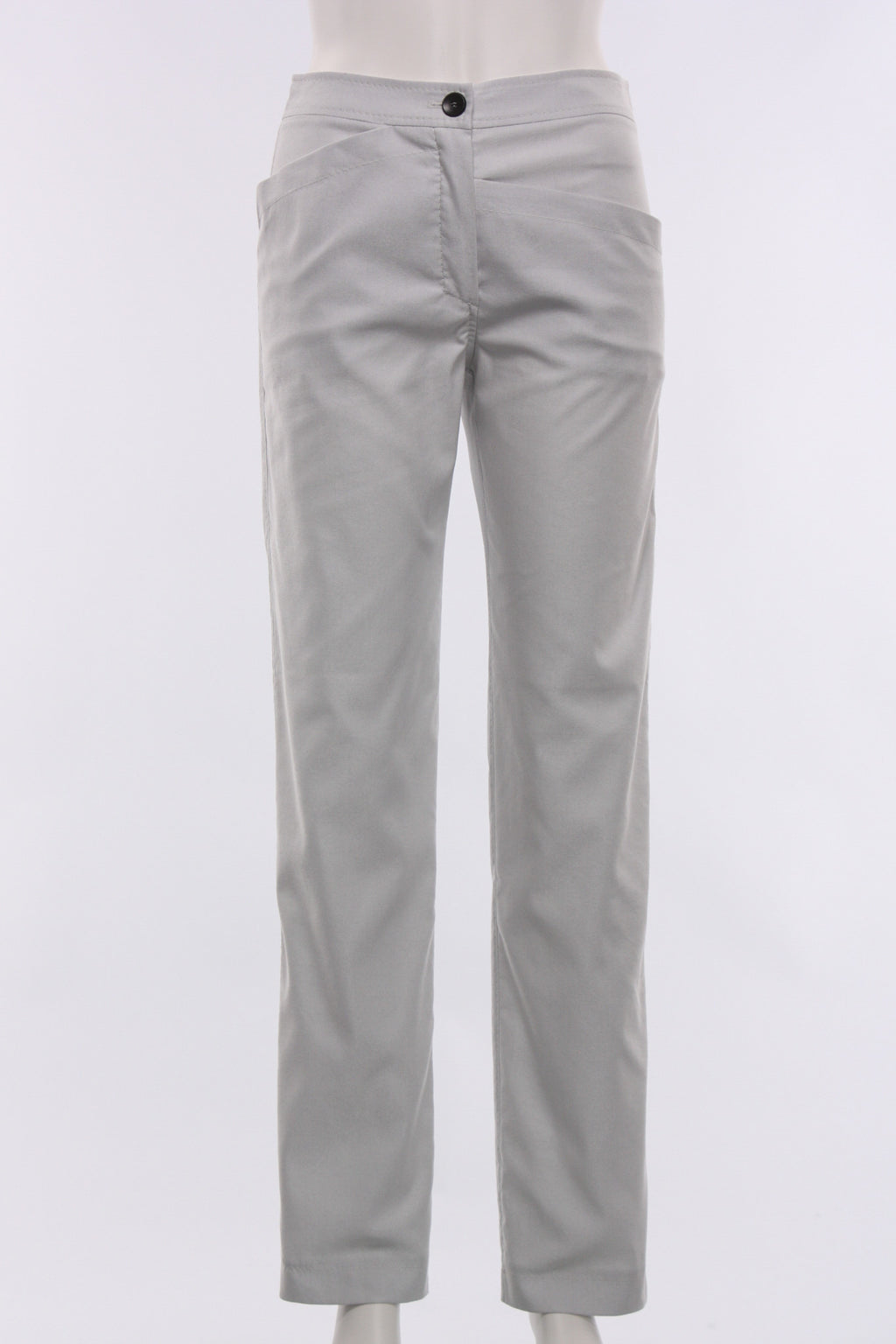 Uneven Pocket Pant in Light Grey