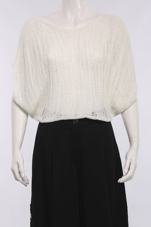 Cropped Sweater in White