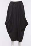 Side Drape Skirt in Black - One Size
