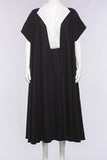 Dress w/ Short Sleeve in Black/White - One Size