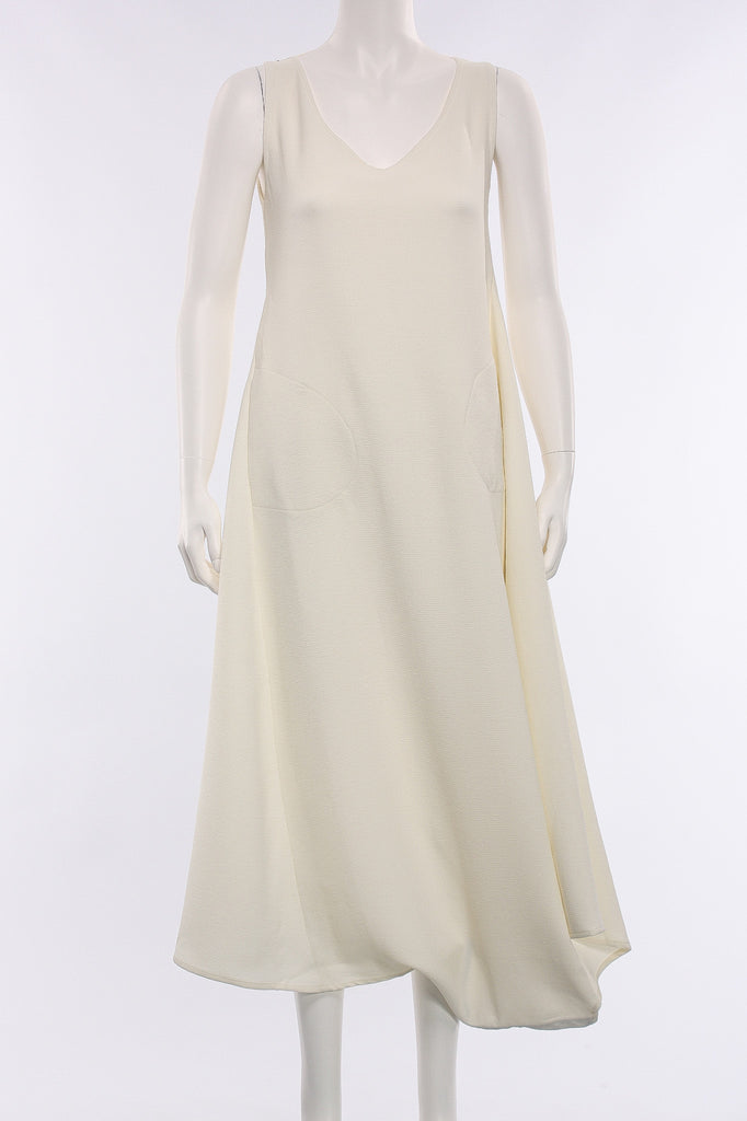 Sleeveless Long Dress in Cream