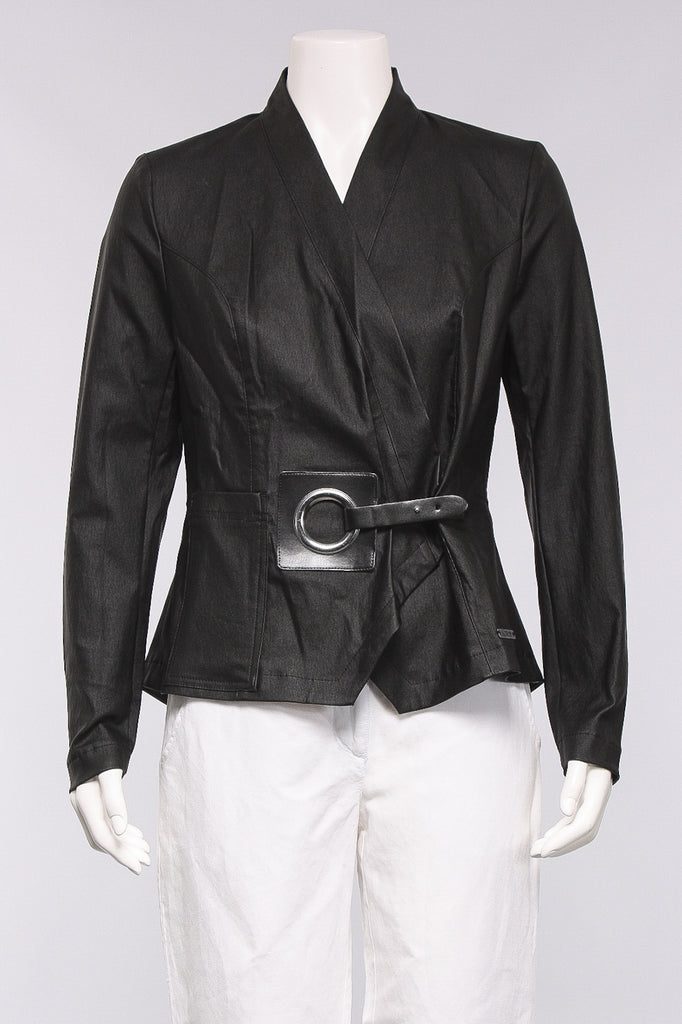 Buckle Front Jacket in Black