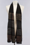 Rubber Dot Shawl in Silver/Black/Gold/Bronze