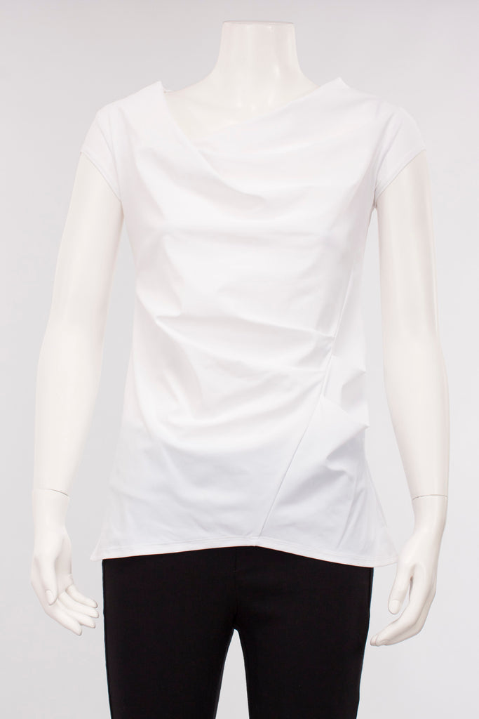 Harmony Top in White Stretch