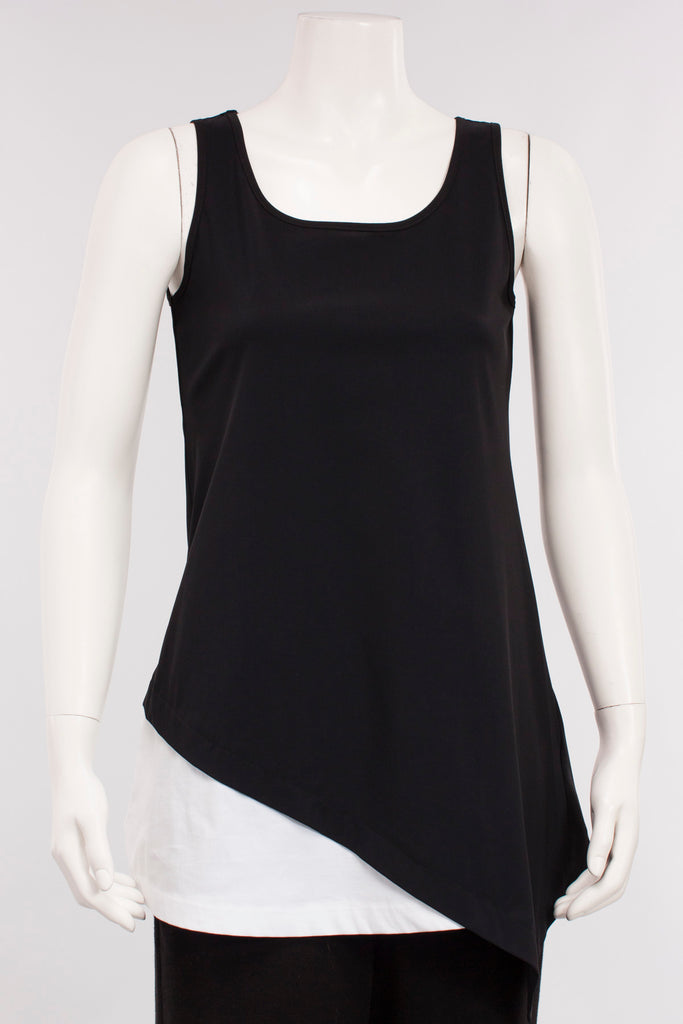 Hi-line Tank in Black/White