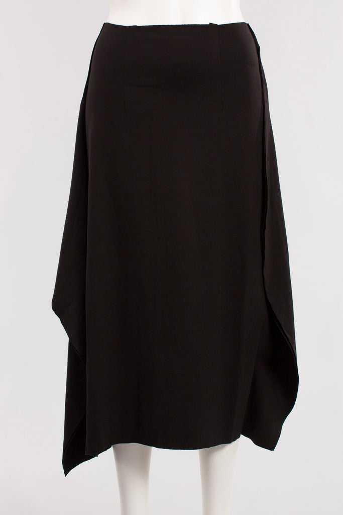 Half Keg Skirt in Black Knit