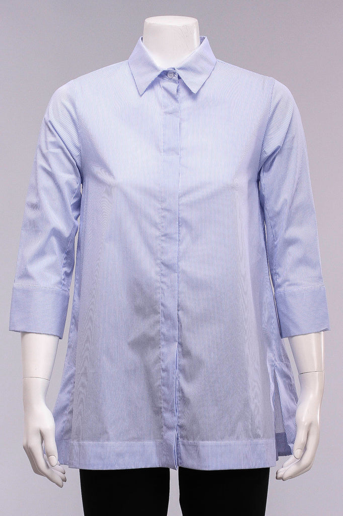 Claire Shirt in Blue Pinstripe