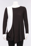 Akita Tunic in Black w/White