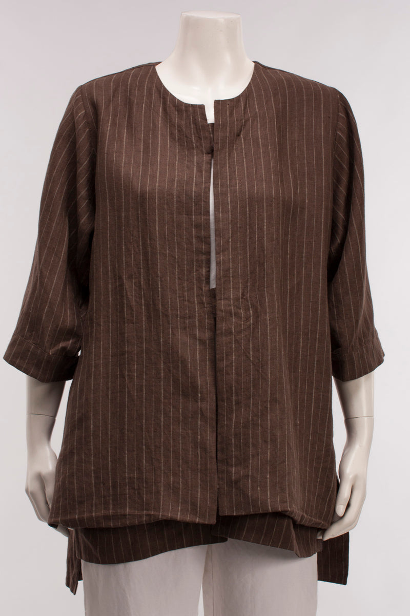Jungle Brown Pinstripe