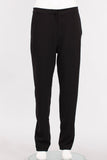 Straight Pant in Black Microfiber