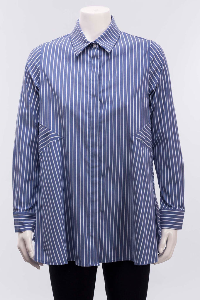Blue/Wht Linda Stripe