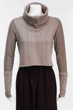 Cropped Turtleneck W/Zip
