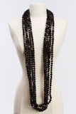 5 Strand Faceted Bead Necklace