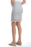 Stretch Lace Reversible Mini Skirt