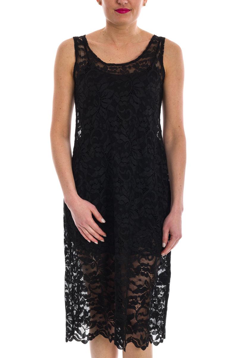 Sheer Stretch Lace Over Dress