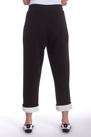 Roll Up Cropped Straight Leg Pant