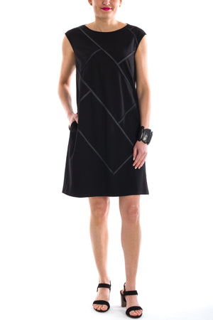 Shift Dress With Twill Tape
