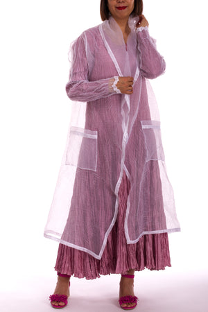 Stamped Organza Straight Coat