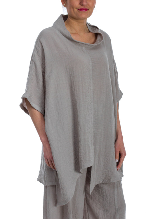 Asymmetrical Slit Tunic