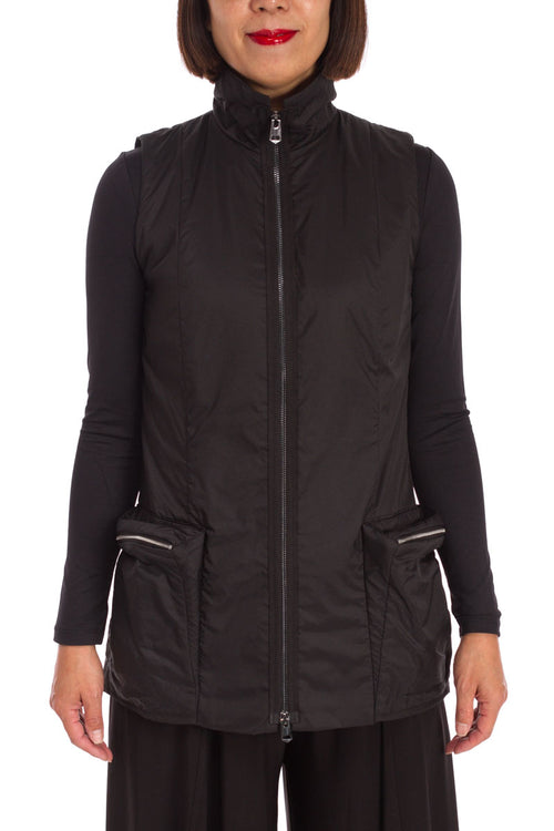 High Neck Puffy Vest
