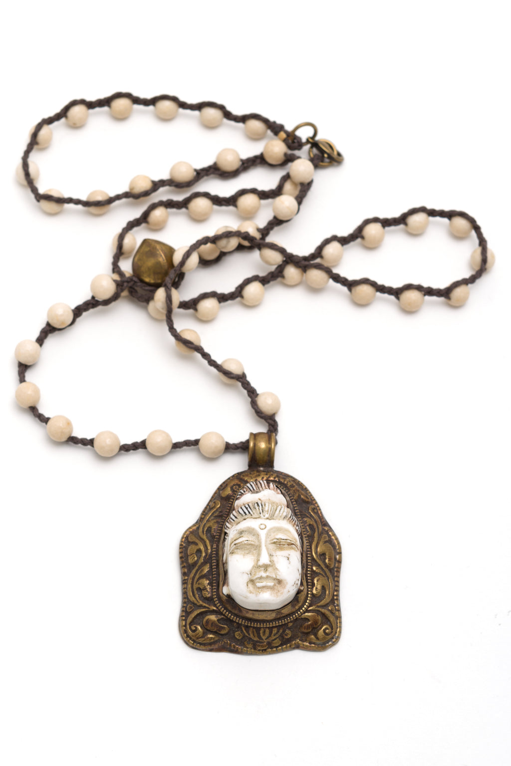 Carved Agate Quan Yin Necklace