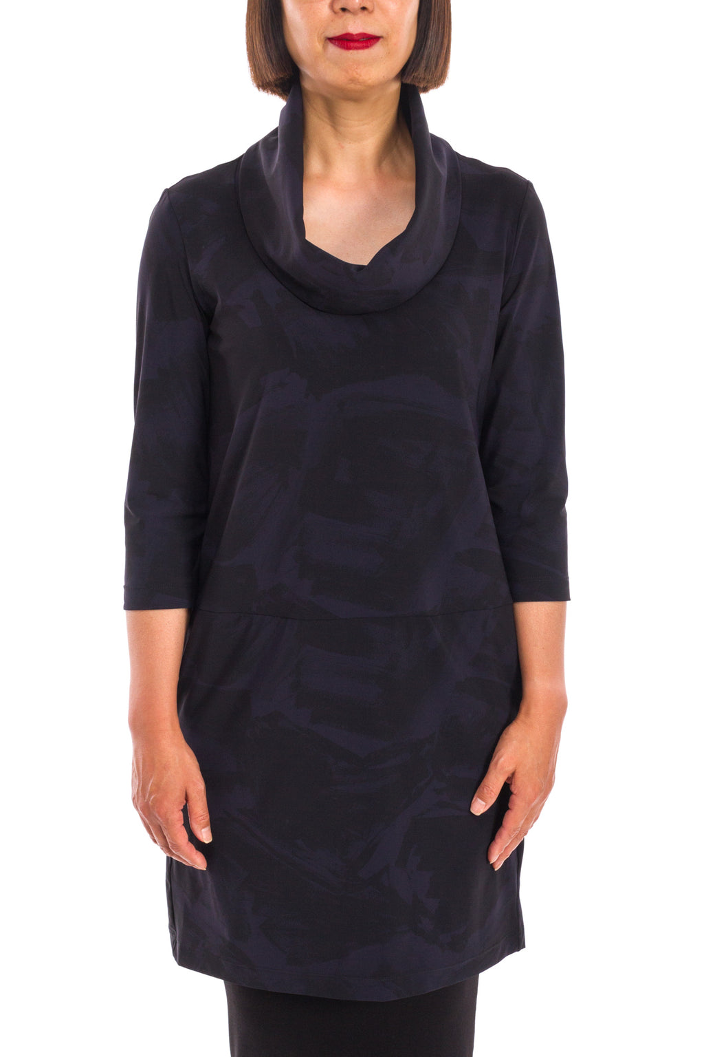 Viking Tunic in Midnight Shodo Print