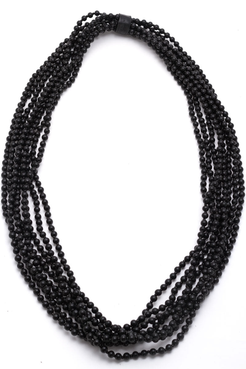 8 Strand Round Bead Necklace