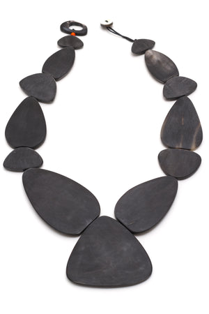 Horn And Stones Necklace in Black