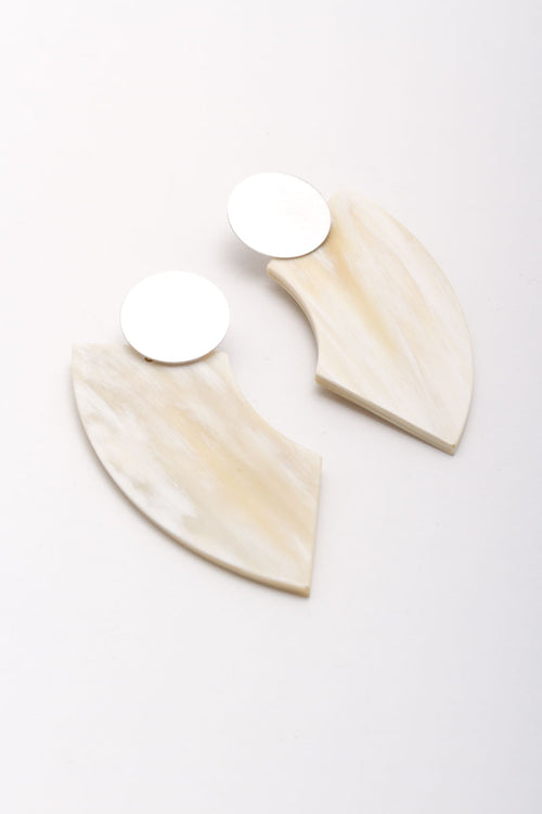 Small Half Moon Horn Earrings